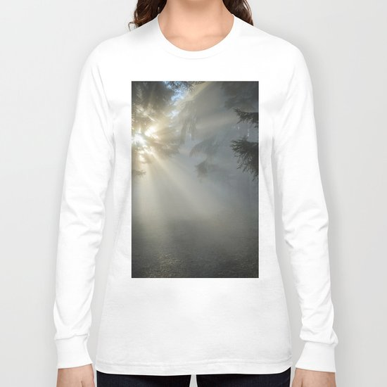 Winter Sunrise in the Forest Long Sleeve T-shirt
