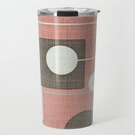 Orbs & Squares Pink Travel Mug