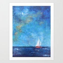 Nainy's Boat Art Print
