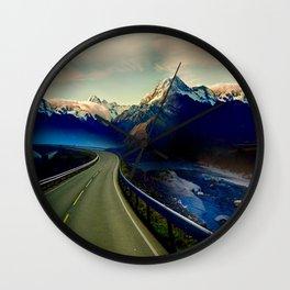 Long Winter Road Wall Clock