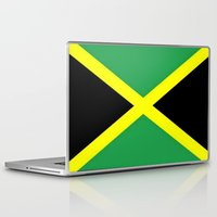 jamaica Laptop & iPad Skins featuring Jamaica Flag by Barrier _S_D