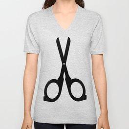 scissors Unisex V-Neck