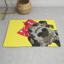 Political Pups - When We All Vote Great Dane Dog Rug
