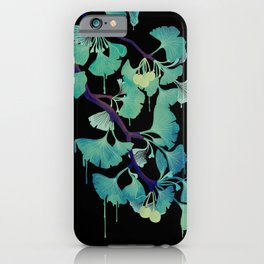 O Ginkgo (on Black) iPhone Case