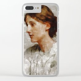 Virginia Woolf, Author Clear iPhone Case