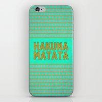 hakuna iPhone & iPod Skins featuring Hakuna Matata by M Studio