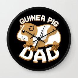 Guinea Pig Dad Wall Clock