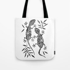 Geckos – Black Palette Tote Bag
