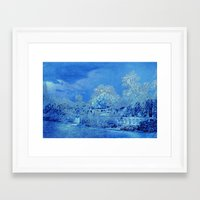 scrubs Framed Art Prints featuring Wedgewood Blue English Garden by Judy Palkimas