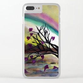 Love Blossoms Clear iPhone Case