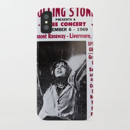 Vintage Rolling Stones free concert at Altamont Raceway, Livermore, California, December 6, 1969 iPhone Case