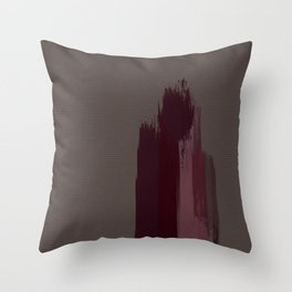 """Cherry / Rose Gold Porstroke (Pattern)"" Throw Pillow"