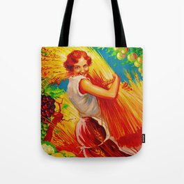 Vintage French Gardening Ad Tote Bag