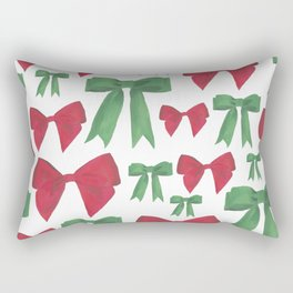 Festive Bows Rectangular Pillow