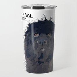 Bitch Please.  I'm Fabulous.  Newfoundland Dog. Travel Mug