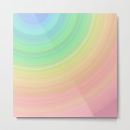 Abstract Pastel Rainbow I Cute abstract circles, gradient pattern Metal Print