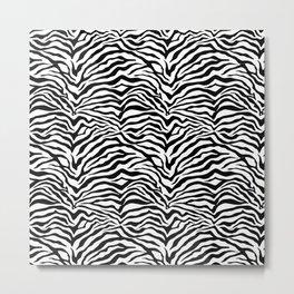Zebra skin pattern Metal Print