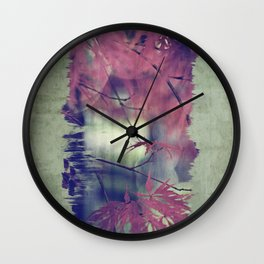 maple leaf love Wall Clock