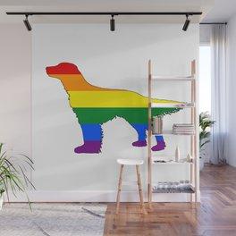 Rainbow English Setter Wall Mural