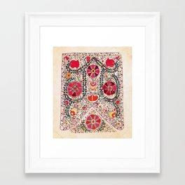 Lakai Suzani Uzbekistan Central Asian Embroidery Print Framed Art Print