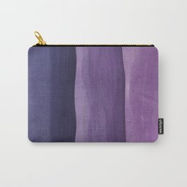 Purple Gradient on Wood Carry-All Pouch