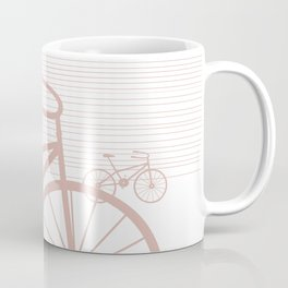Pink Bike by Friztin Coffee Mug