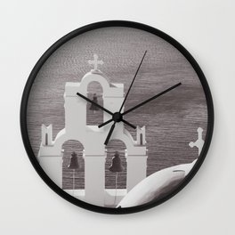 Church in Santorini Wall Clock