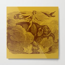 The Occult Golden Elephant Metal Print
