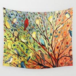 27 Birds Wall Tapestry