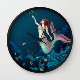 Fishing For Sirens Wall Clock