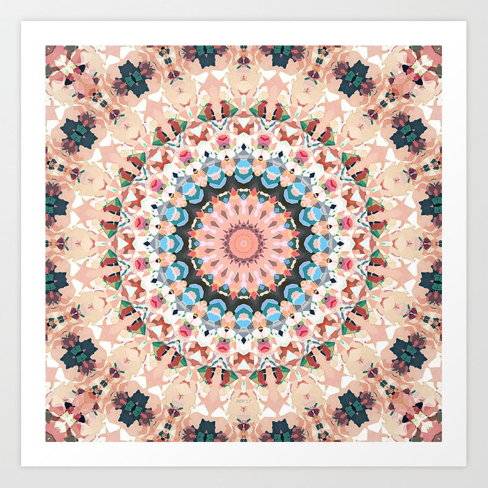 Textural Circles of Color Art Print