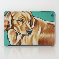 golden retriever iPad Cases featuring Golden Retriever Painting by Cheney Beshara