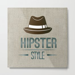Hipster Style Metal Print