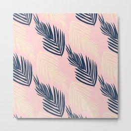 Pink Palms Metal Print