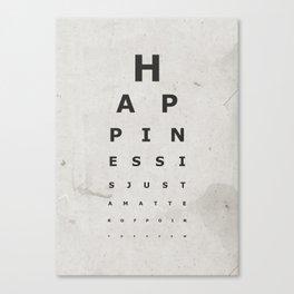 Happiness (1) Canvas Print
