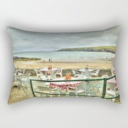 Cafe on the Beach Rectangular Pillow