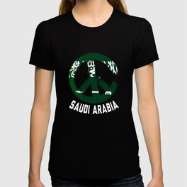Saudi Arabia Peace Sign T-Shirt T-shirt