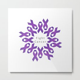 World Cancer Day to raise awareness and prevent cancer Metal Print