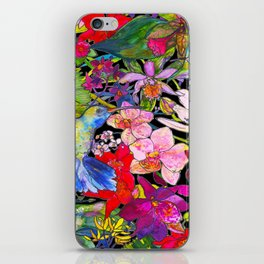 Hummingbirds Black iPhone Skin