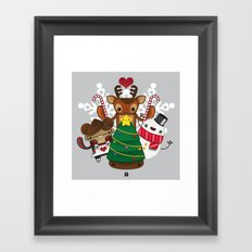 Merry Christmas Chestnut Girl!!! Framed Art Print