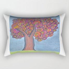 autumn tree before the storm Rectangular Pillow