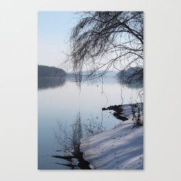Susquehanna Winter Canvas Print