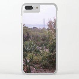 Cactus garden in Lisbon Clear iPhone Case