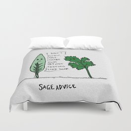 sage advice Duvet Cover