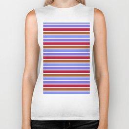 Modern violet red brown geometrical stripes pattern Biker Tank