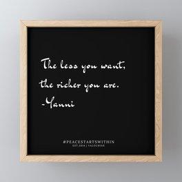 8   Inner Peace Quotes 190509 Framed Mini Art Print