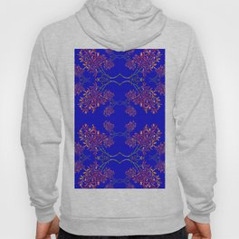 Orchids on Blue Hoody