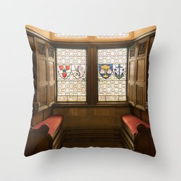 Edinburgh castle stained glass windows Scotland Throw Pillow