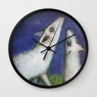 howl Wall Clocks featuring Howl by cathie joy young