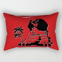 Sunshine Sentinel (Red) Rectangular Pillow